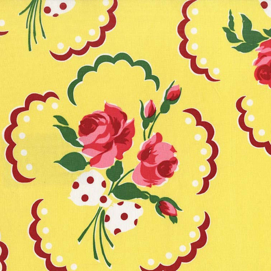 Fabric: Emma's Yellow and Pink Floral | Bold Bedding-Fabric-Default-Jack and Jill Boutique
