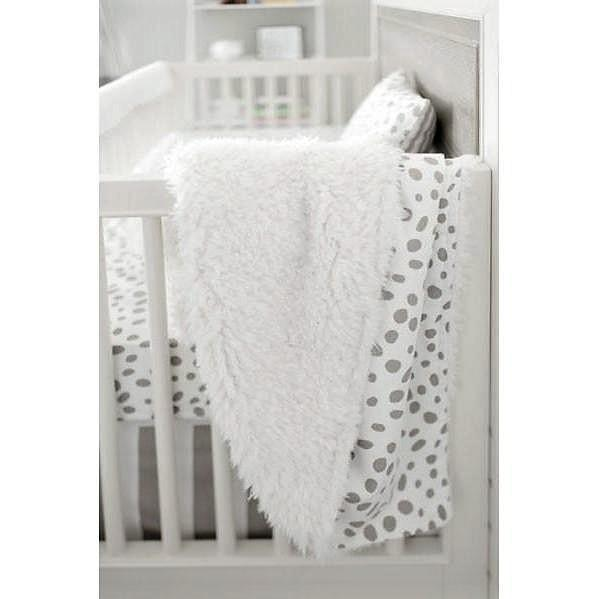 Minky, Flannel or Faux Fur Blanket | Gray Dalmatian Spots-Baby Blanket-Jack and Jill Boutique