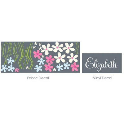 Field of Flowers Fabric Decal-Decals-One Size-Jack and Jill Boutique