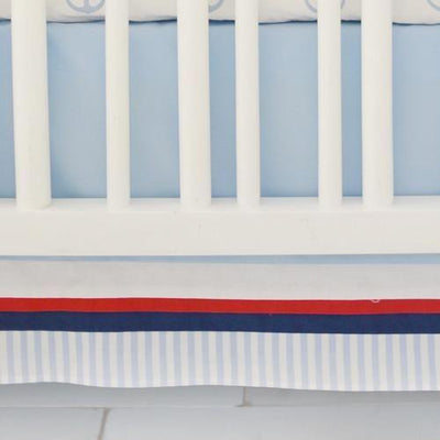 First Mate Navy Blue Baby Bedding Set-Crib Bedding Set-Default-Jack and Jill Boutique