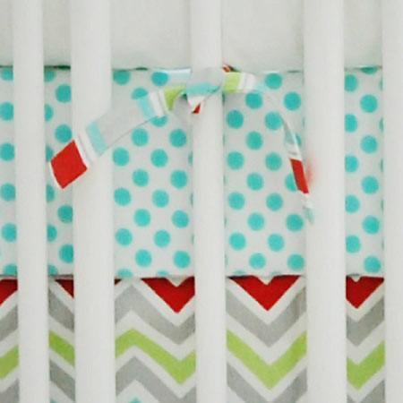 Fitted Crib Sheet | Aqua Polka Dots-Crib Sheets-Default-Jack and Jill Boutique