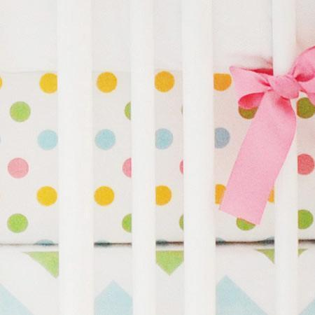 Fitted Crib Sheet | Colorful Polka Dots-Crib Sheets-Default-Jack and Jill Boutique