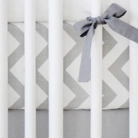 Fitted Crib Sheet | Gray Chevron Zig Zag-Crib Sheets-New Arrivals-Jack and Jill Boutique