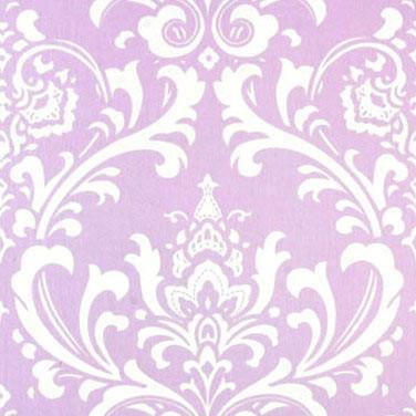 Fitted Crib Sheet | Lavender & Gray Damask Wisteria