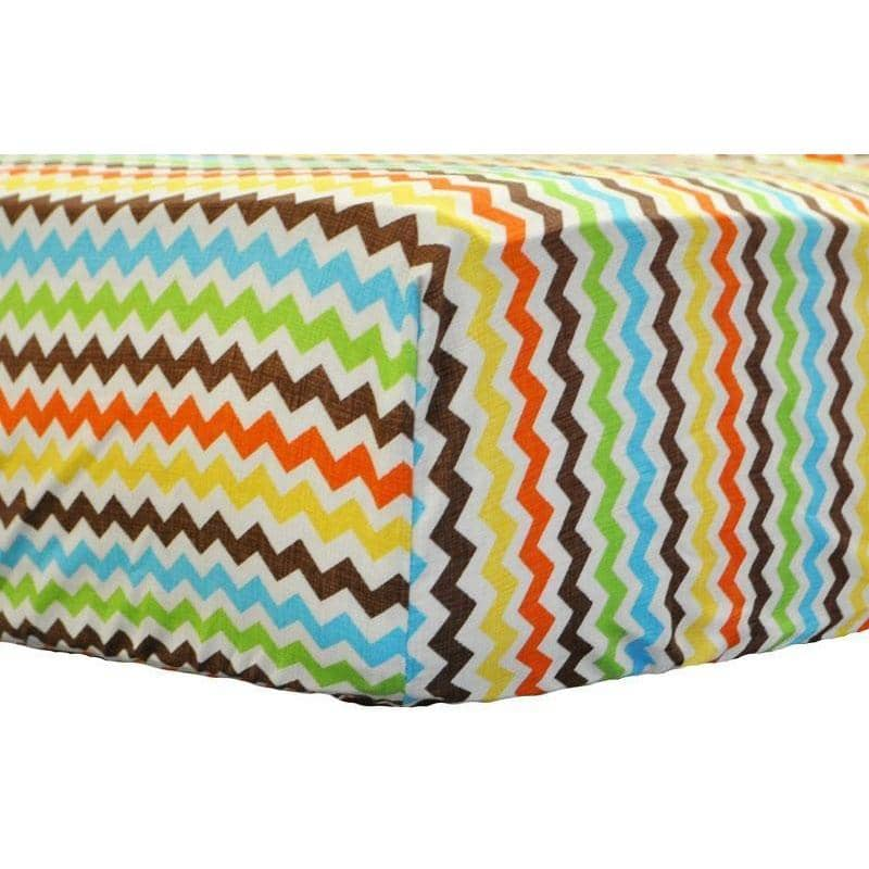 Fitted Crib Sheet | Multi Chevron Sante Fe-Crib Sheets-Default-Jack and Jill Boutique