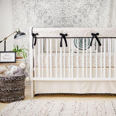 Fitted Crib Sheet | Woodland Black-Crib Sheets-Default-Jack and Jill Boutique