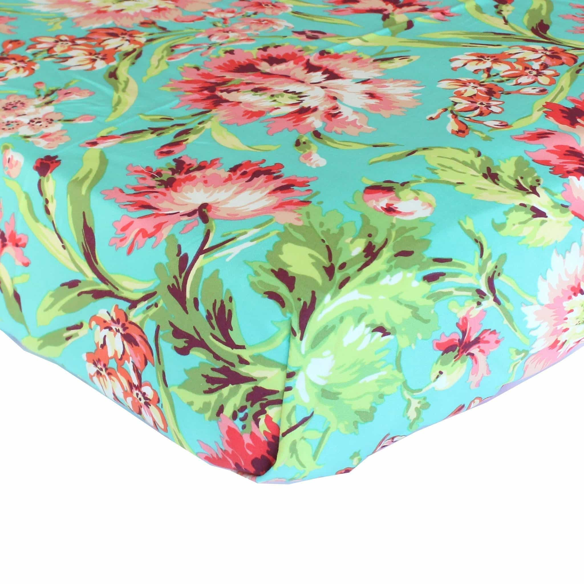 Fitted Crib Sheets | Love Bliss Bouquet - Coral and Teal-Crib Sheets-Bold Bedding-Jack and Jill Boutique