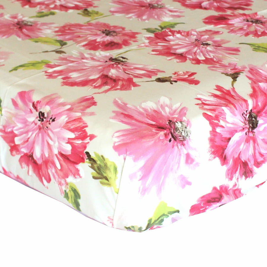 Fitted Crib Sheets | Pink Blossom Tallulah-Crib Sheets-Default-Jack and Jill Boutique