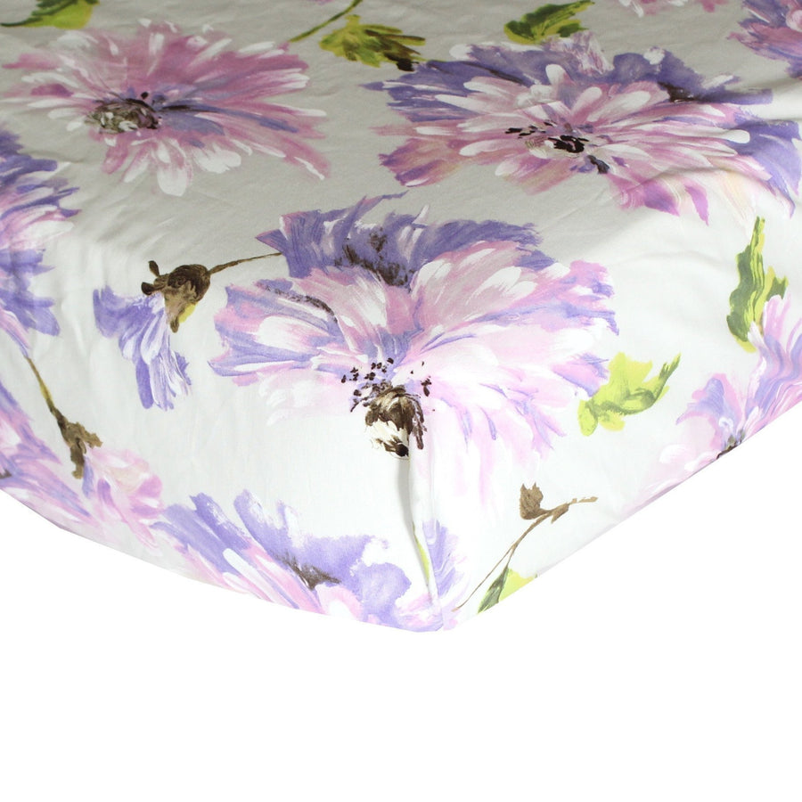 Fitted Crib Sheets | Purple Blossom Tallulah-Crib Sheets-Default-Jack and Jill Boutique