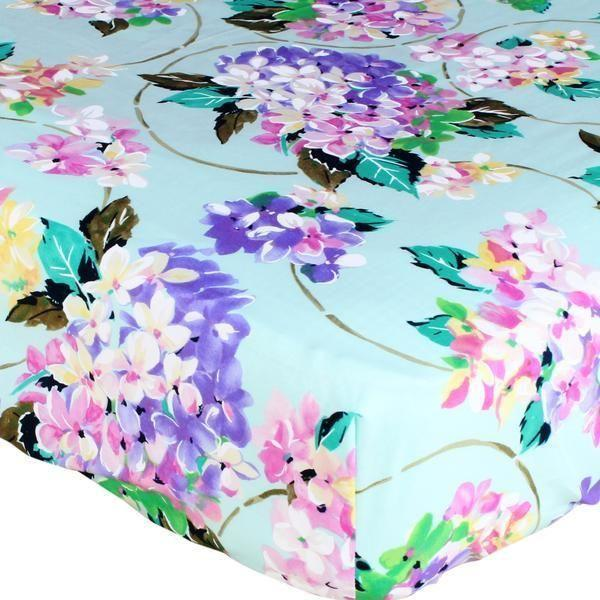 Fitted Mini Crib Sheets | Spring Fling Cordelia Floral