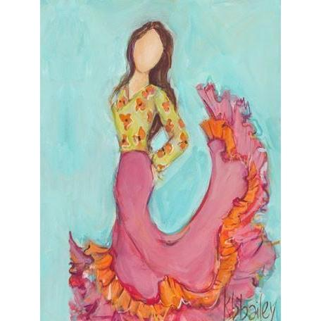 Flamenco Dancer - Brunette | Canvas Wall Art-Canvas Wall Art-Jack and Jill Boutique
