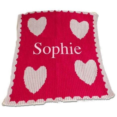 Floating Hearts Personalized Stroller Blanket or Baby Blanket-Baby Blanket-Jack and Jill Boutique