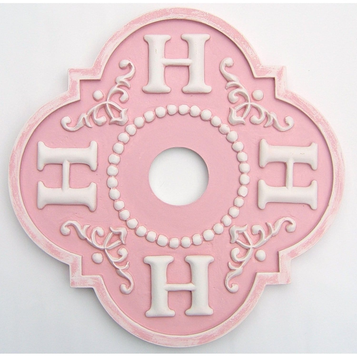 Floral Monogram Ceiling Medallion-Medallions-Jack and Jill Boutique