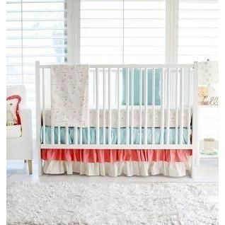 Floral Rosemilk Bumperless Baby Bedding Set-Crib Bedding Set-Jack and Jill Boutique