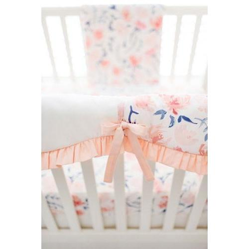Floral Rosewater in Peach Baby Bedding Set-Crib Bedding Set-Default-Jack and Jill Boutique