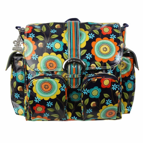Floral Stitches Matte Coated Double Duty Diaper Bag | Style 2991 - Kalencom-Diaper Bags-Jack and Jill Boutique