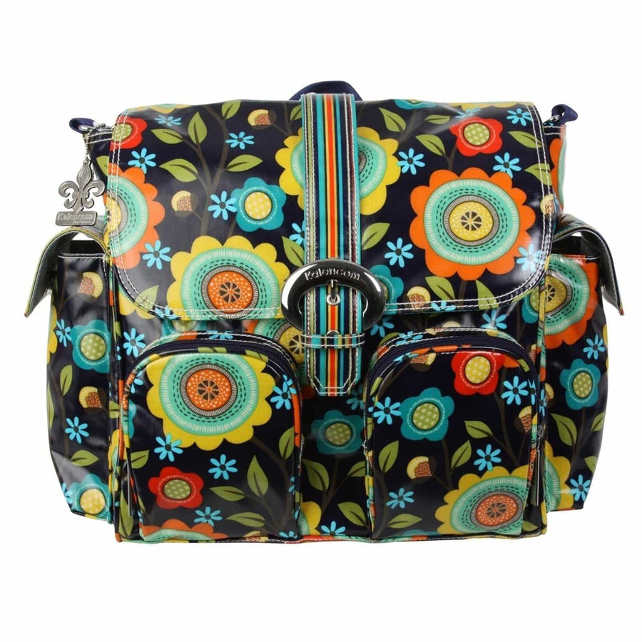 Floral Stitches Matte Coated Double Duty Diaper Bag | Style 2991 - Kalencom-Diaper Bags-Default-Jack and Jill Boutique