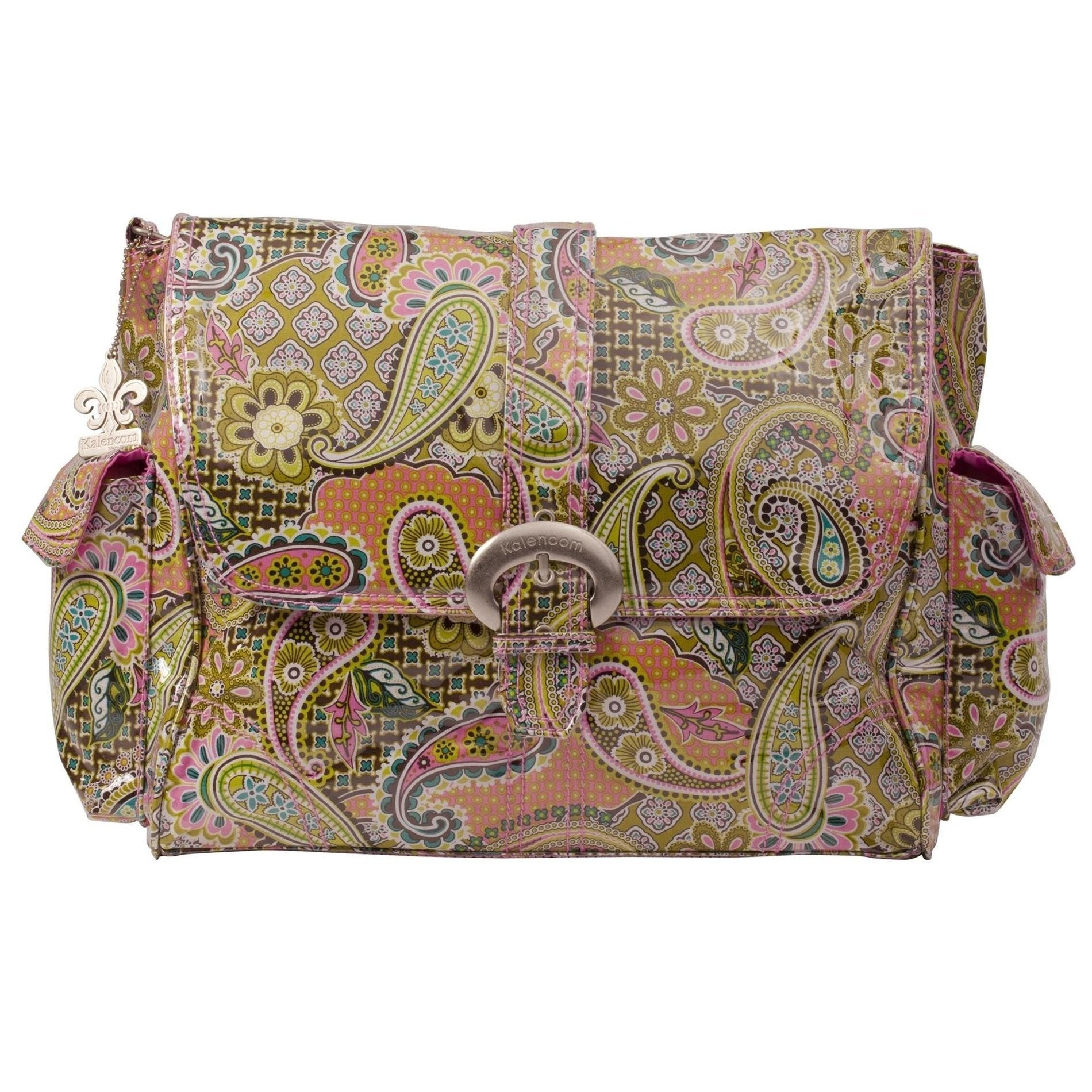 Florentine Paisley - Pink Laminated Buckle Diaper Bag | Style 2960 - Kalencom-Diaper Bags-Jack and Jill Boutique