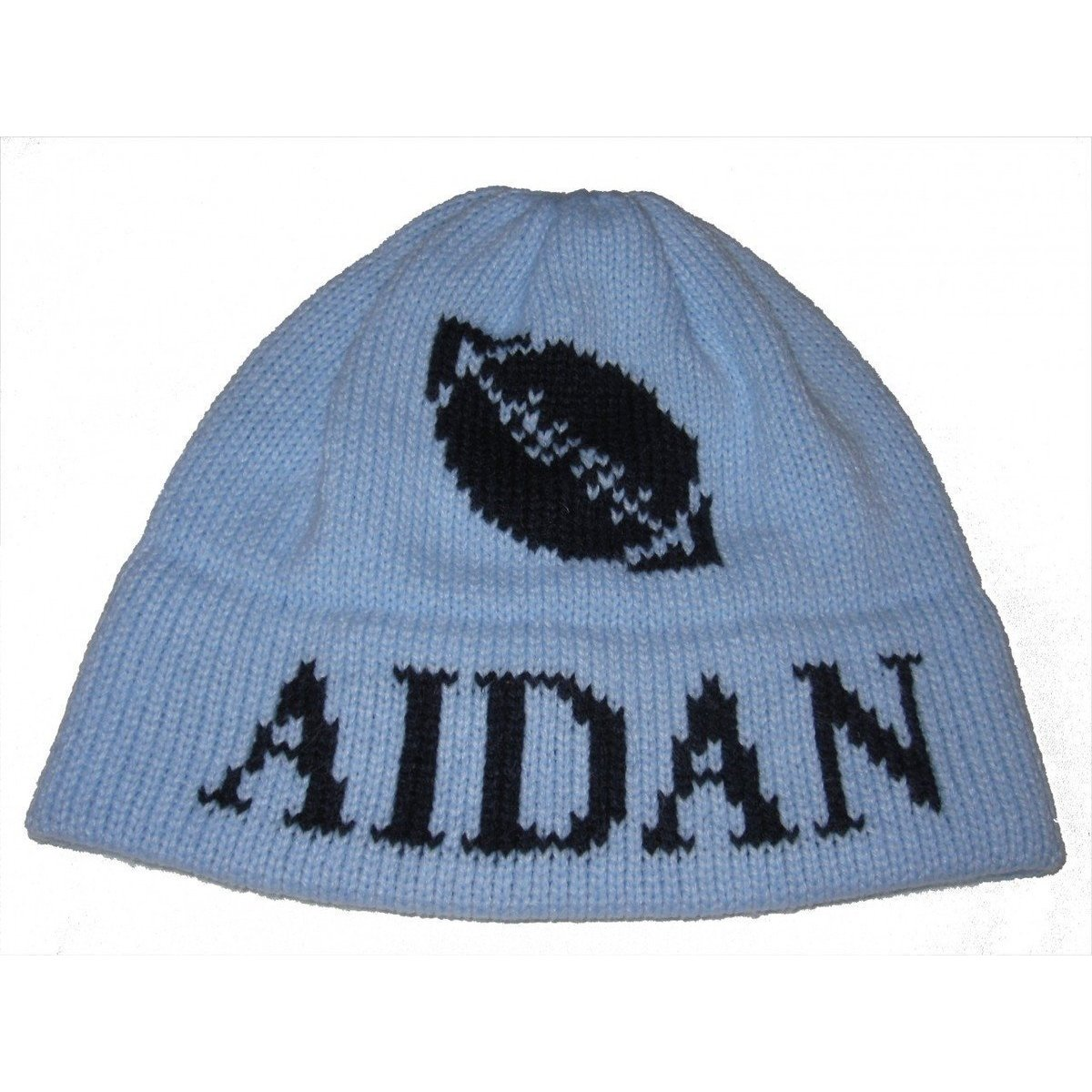 56c70b910c Football Personalized Knit Hat-Hats-Jack and Jill Boutique