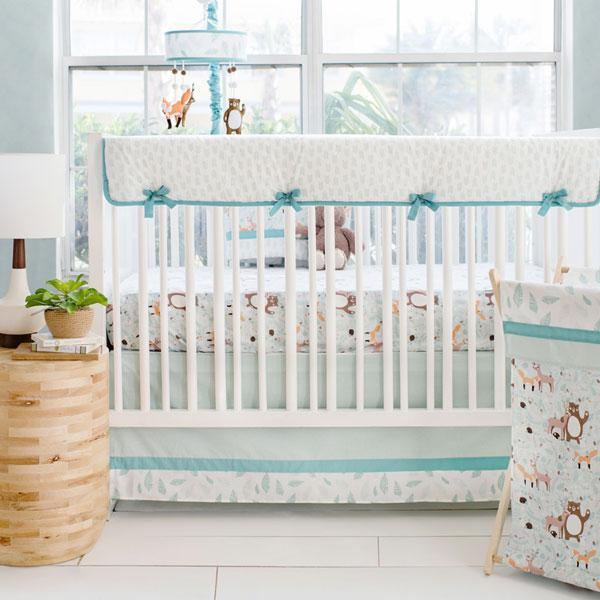 Crib Rail Cover | Forest Friends Crib Bedding Set-Crib Rail Cover-Default-Jack and Jill Boutique