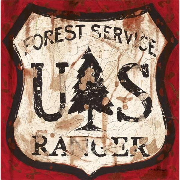 Forest Service | American Adventure Art Collection | Canvas Art Prints-Canvas Wall Art-Jack and Jill Boutique