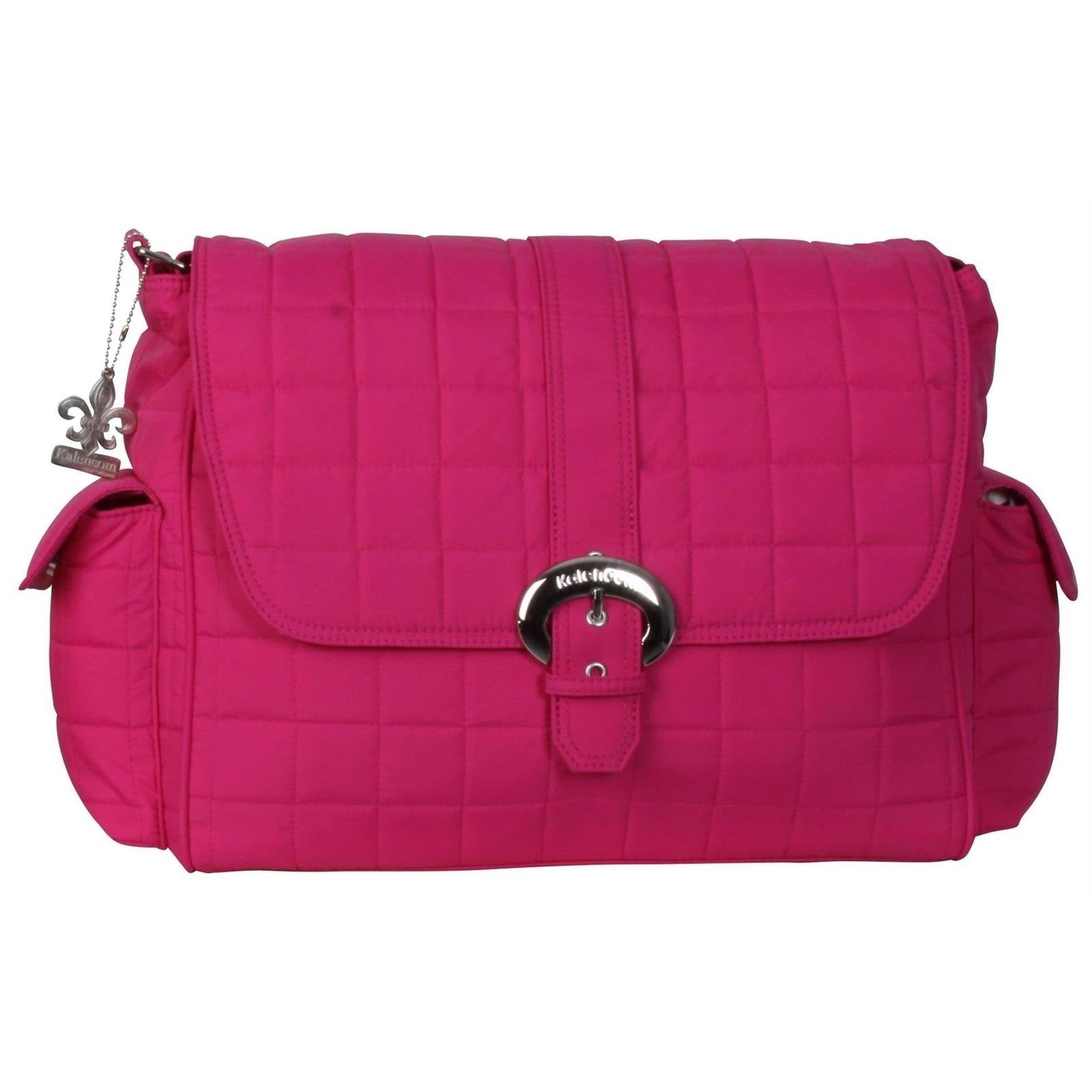 Fuchsia Quilted Nylon Buckle Diaper Bag | Style 2960 - Kalencom-Diaper Bags-Default-Jack and Jill Boutique