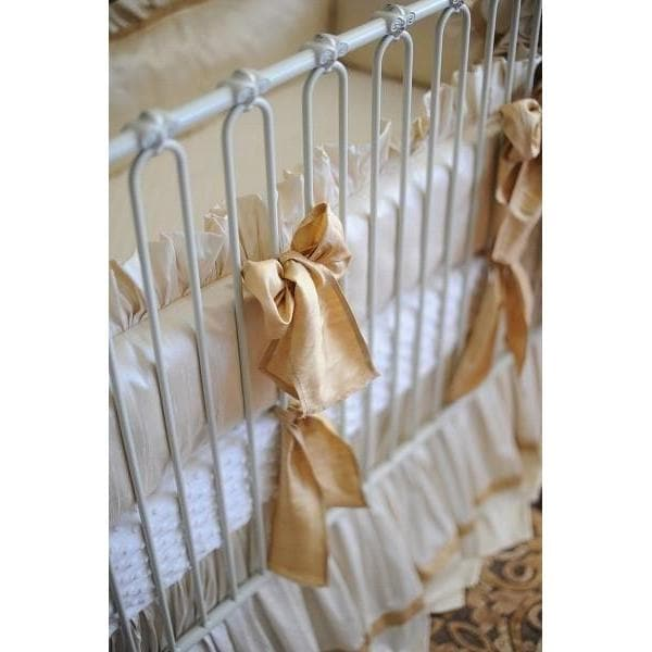Gabrielle Silk Bedding | Luxury Baby Bedding-Crib Bedding Set-Silk Dupioni-Jack and Jill Boutique