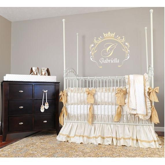 Gabrielle Silk Bedding | Luxury Baby Bedding-Crib Bedding Set-Jack and Jill Boutique