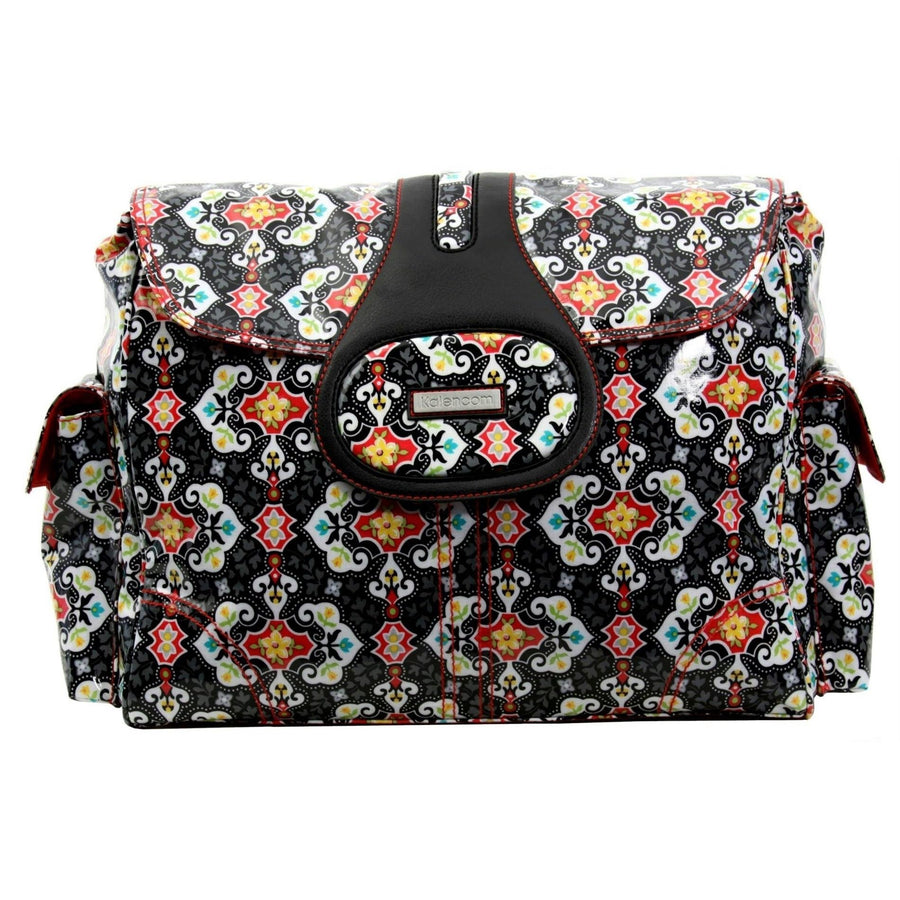 Garden Charm Black Elite Coated Diaper Bag-Diaper Bags-Default-Jack and Jill Boutique