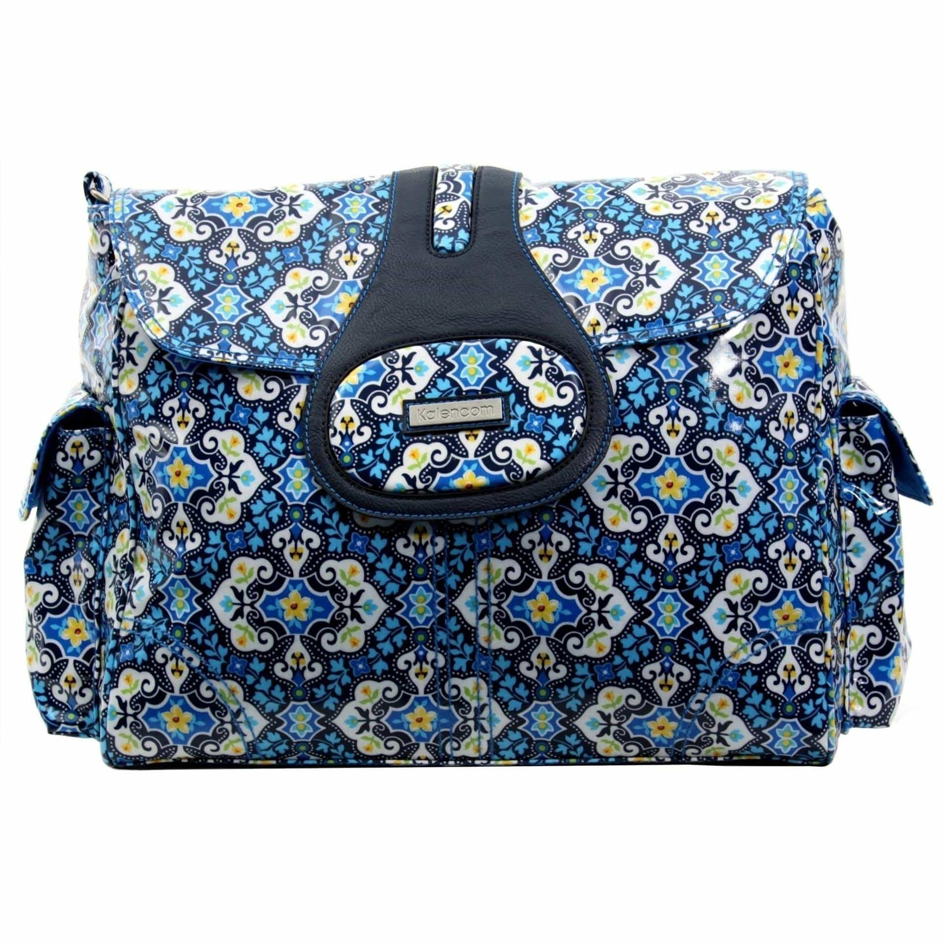 Garden Charm Indigo Elite Coated Diaper Bag-Diaper Bags-Default-Jack and Jill Boutique