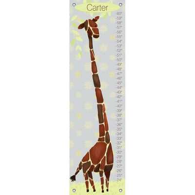 Gillespie Giraffe - Yellow and Grey Growth Charts-Growth Charts-Default-Jack and Jill Boutique