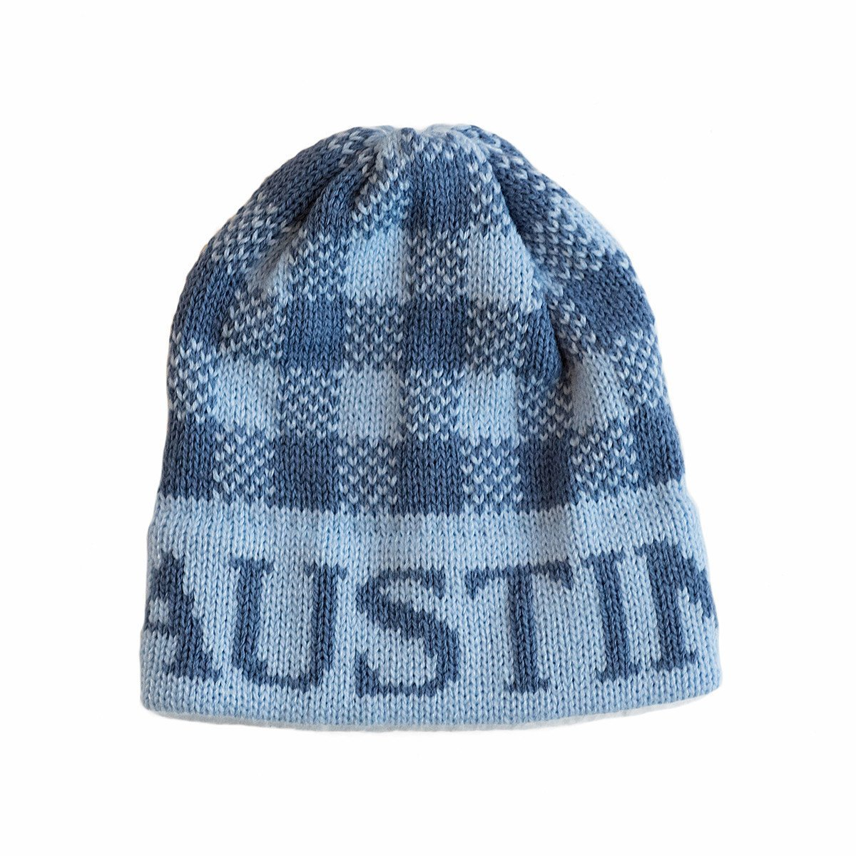 Gingham Personalized Knit Hat-Hats-Jack and Jill Boutique