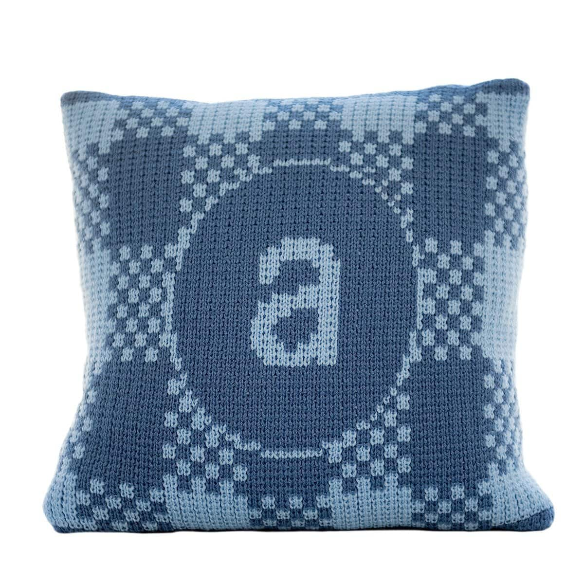 Gingham Pillow with Single Initial Personalized Pillow-Pillow-Butterscotch Blankees-Jack and Jill Boutique
