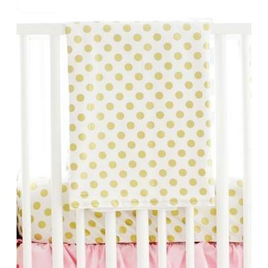 Gold Polka Dot in Pink Baby Bedding Set – Jack and Jill ...
