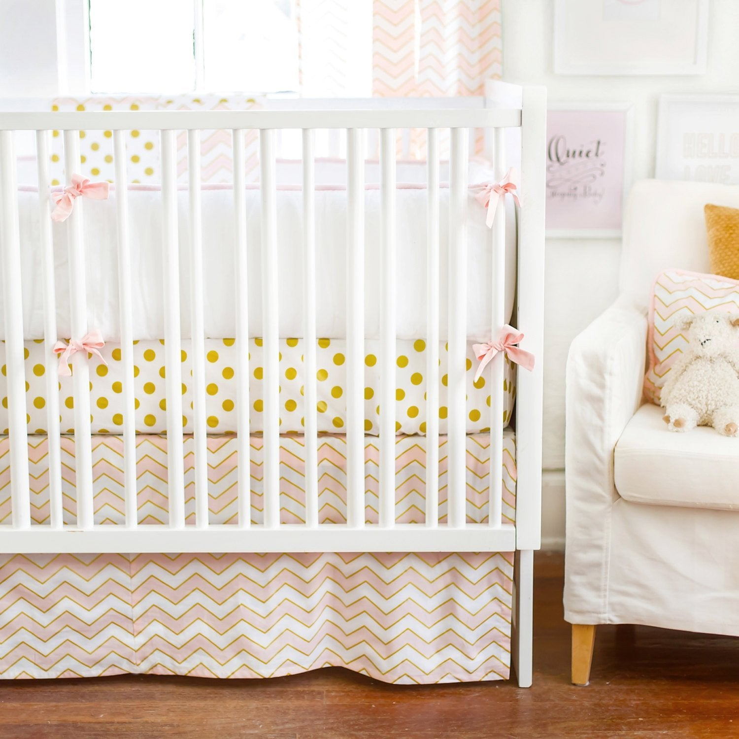 Gold Rush in Pink Baby Bedding Set-Crib Bedding Set-New Arrivals-Jack and Jill Boutique