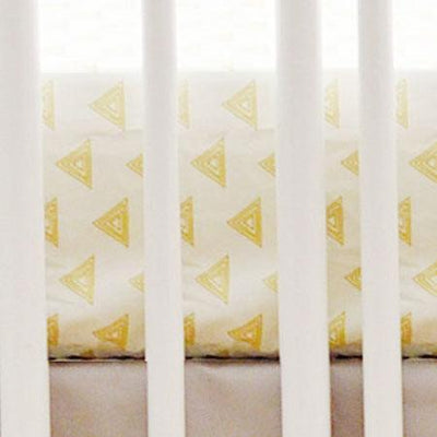 Gold Triangle Crib Sheet-Crib Sheets-Default-Jack and Jill Boutique