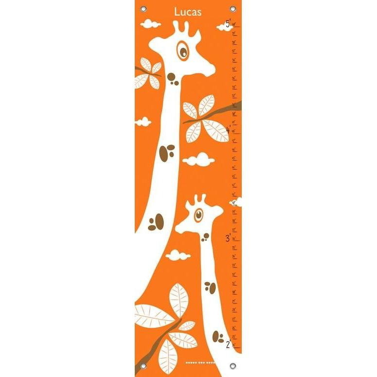 Googly Eyed Giraffe - Orange Growth Charts-Growth Charts-Default-Jack and Jill Boutique