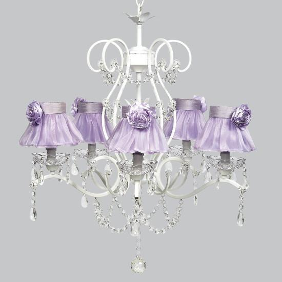Grace White Five Light Chandelier-Chandeliers-Default-Jack and Jill Boutique