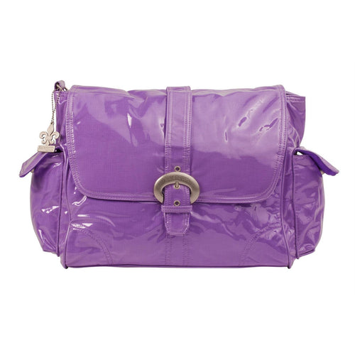 Grape Corduroy Laminated Buckle Diaper Bag | Style 2960 - Kalencom-Diaper Bags-Jack and Jill Boutique