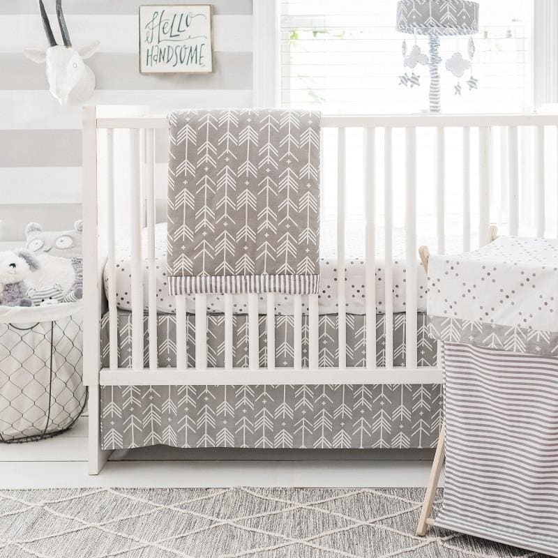 Gray Arrow Little Adventurer Crib Baby Bedding Set-Crib Bedding Set-Default-Jack and Jill Boutique