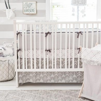 Gray Arrow Little Adventurer Crib Baby Bedding Set