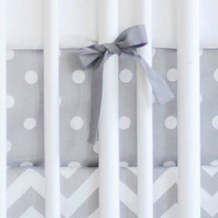 Gray Chevron Zig Zag Baby Baby Bedding Set-Crib Bedding Set-New Arrivals-Jack and Jill Boutique