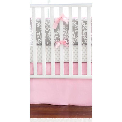 Gray & Pink Damask Wisteria Baby Bedding Set-Crib Bedding Set-Default-Jack and Jill Boutique
