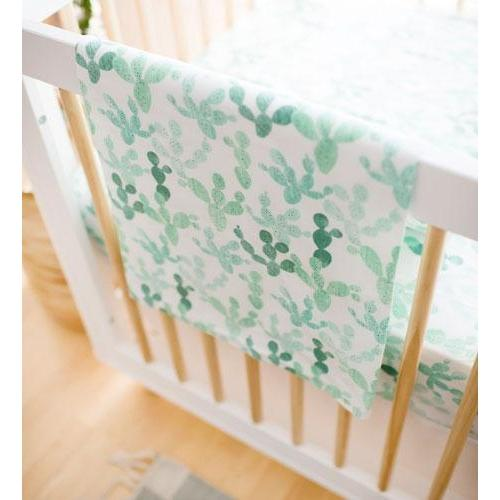 Green Blanket | Cactus Cacti Crib Baby Bedding Set