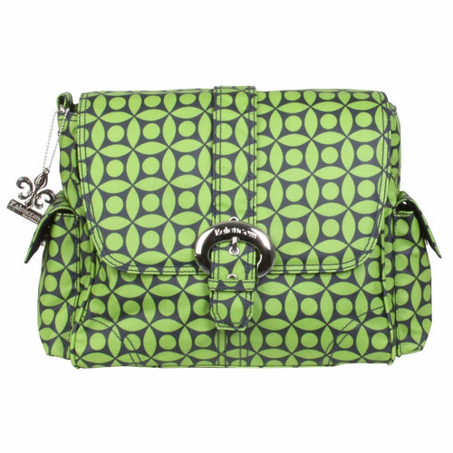 Green Clover Midi Matte Coated Buckle Diaper Bag | Style 2959 - Kalencom-Diaper Bags-Jack and Jill Boutique