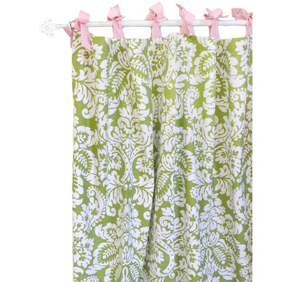 Green Damask Bloom in Apple Baby Bedding Set-Crib Bedding Set-Default-Jack and Jill Boutique