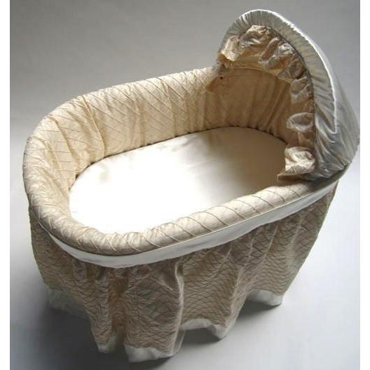 bassinet jack and jill boutique greenwich bassinet with silk linens - Bassinet Bedding