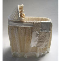 Bassinet-Jack and Jill Boutique-Greenwich Bassinet with Silk Linens