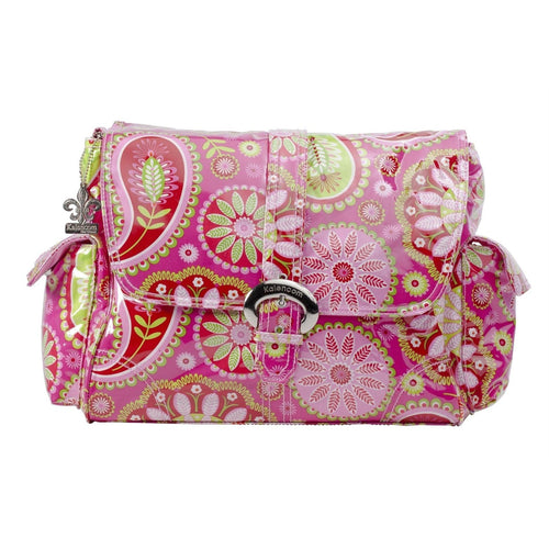Gypsy Paisley Cotton Candy Laminated Buckle Diaper Bag | Style 2960 - Kalencom-Diaper Bags-Jack and Jill Boutique
