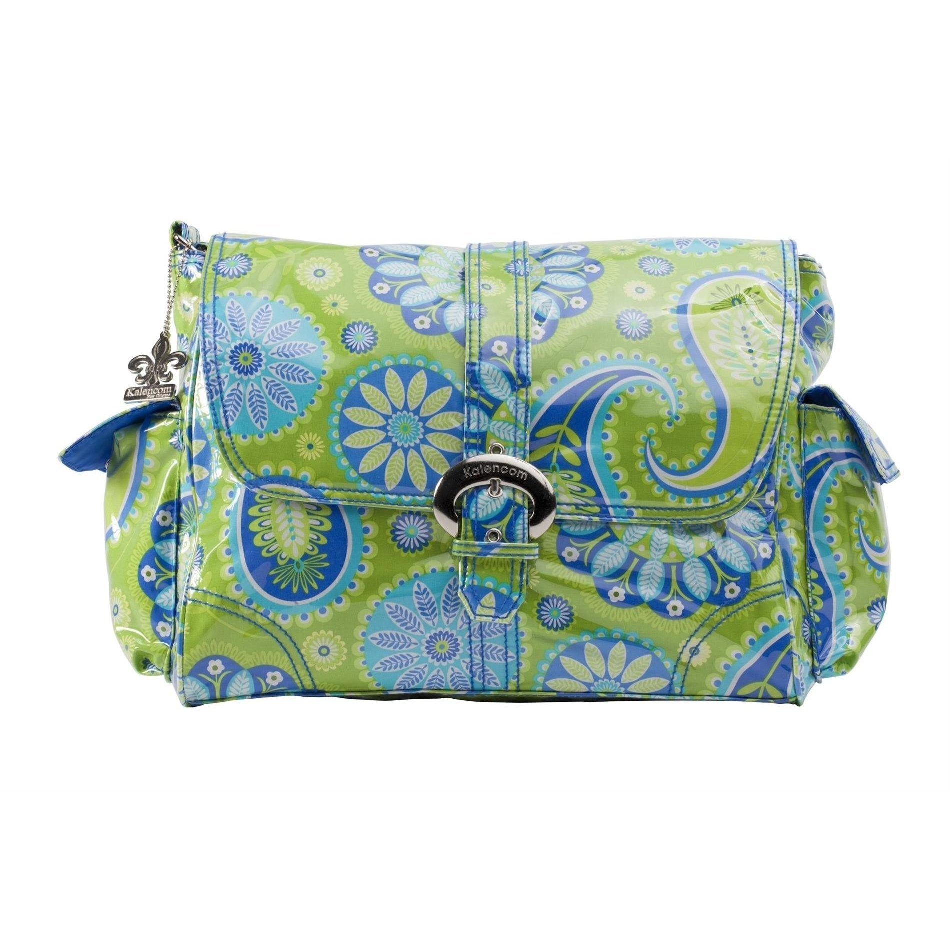 Gypsy Paisley Green Laminated Buckle Diaper Bag | Style 2960 - Kalencom-Diaper Bags-Default-Jack and Jill Boutique